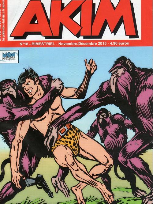 Couverture de Akim (3e série) -18- L'imposteur - Duel dans les airs