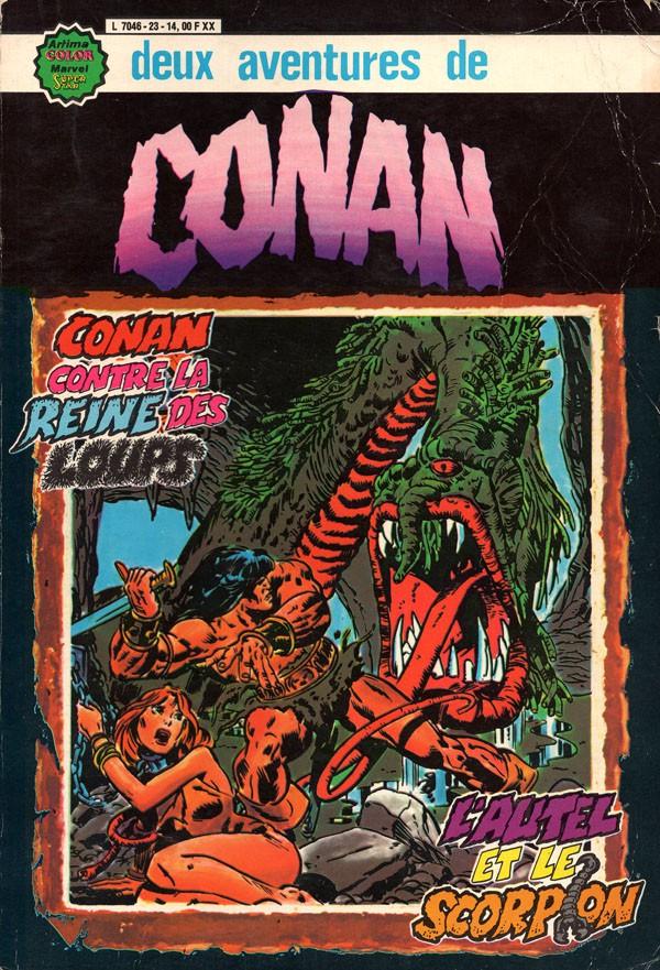 Couverture de Conan le barbare (1re série - Aredit - Artima Marvel Color) -Rec02- Album N°23 (n°3 et n°4)