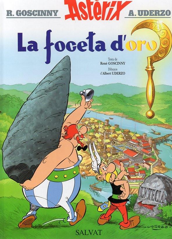 Couverture de Astérix (en langues étrangères) -2Asturien- La foceta d'oro