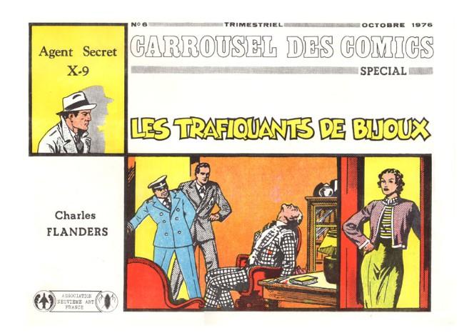 Couverture de Agent secret X-9 (Futuropolis) - Les trafiquants de bijoux