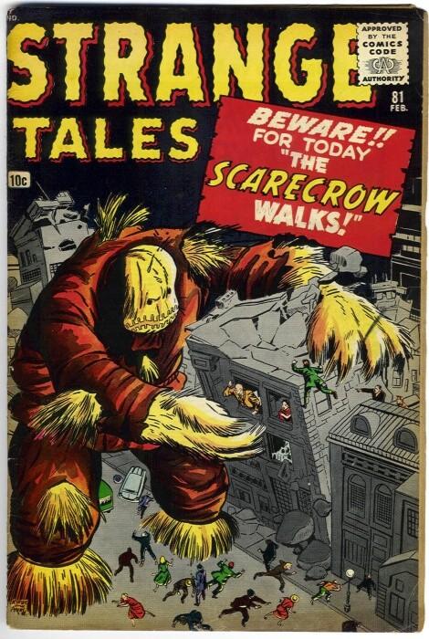 Couverture de Strange Tales (1951) -81- The Scarecrow Walks!
