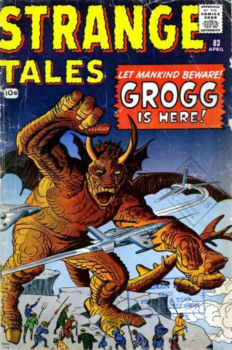 Couverture de Strange Tales (Marvel - 1951) -83- Grogg is here!