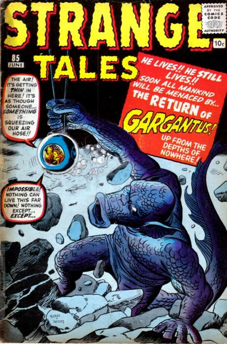 Couverture de Strange Tales (1951) -85- The Return of Gargantus!