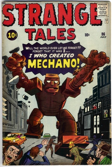 Couverture de Strange Tales (Marvel - 1951) -86- I Created Mechano!