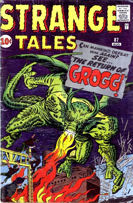 Couverture de Strange Tales (Marvel - 1951) -87- The Return of Grogg!
