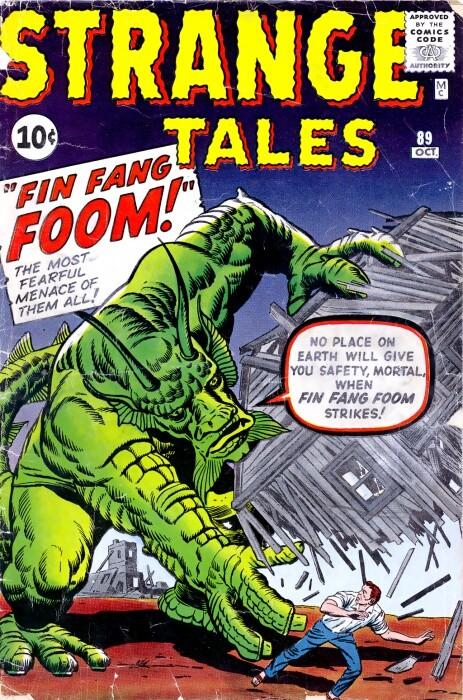 Couverture de Strange Tales (1951) -89- Fin Fang Foom!