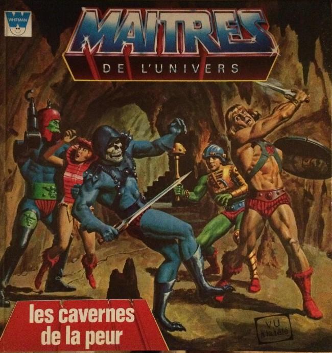 Couverture de Maîtres de l'univers (Whitman-France) -3- Les cavernes de la peur