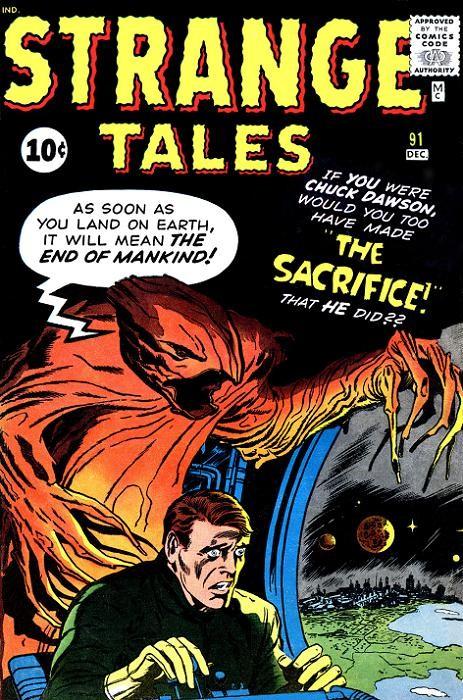 Couverture de Strange Tales (1951) -91- The Sacrifice!