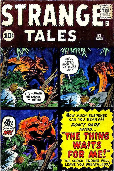 Couverture de Strange Tales (1951) -92- The Thing waits for Me!