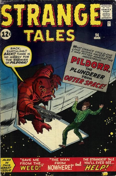 Couverture de Strange Tales (1951) -94- Pildorr: The Plunderer from Outer Space!