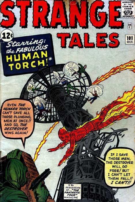 Couverture de Strange Tales (Marvel - 1951) -101- The Human Torch