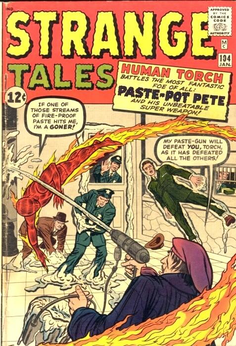 Couverture de Strange Tales (Marvel - 1951) -104- Paste-Pot Pete!