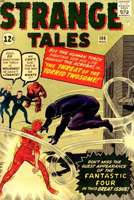 Couverture de Strange Tales (1951) -106- The Threat of the Torrid Twosome