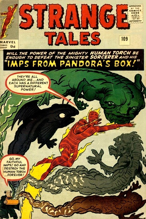 Couverture de Strange Tales (1951) -109- Imps from Pandora's Box