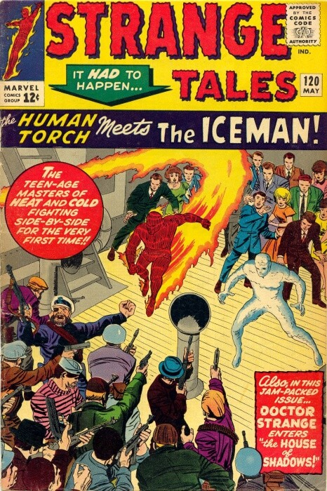 Couverture de Strange Tales (Marvel - 1951) -120- The Human Torch Meets the Iceman!