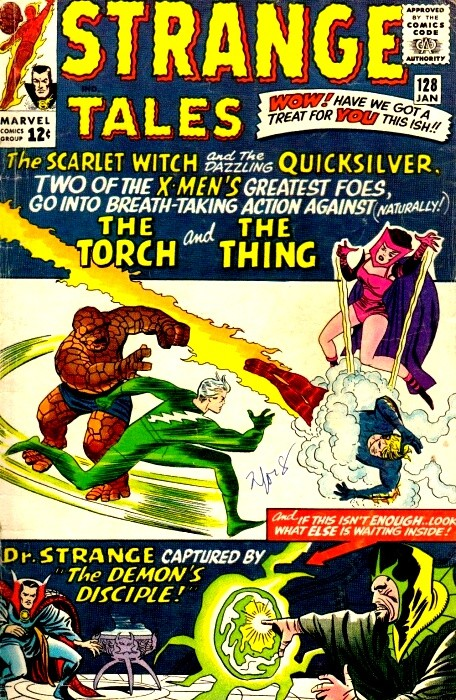Couverture de Strange Tales (Marvel - 1951) -128- The Scarlet Witch and the dazzling Quicksilver