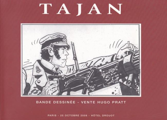 Couverture de (Catalogues) Ventes aux enchères - Tajan - Tajan - Bande dessinée / Hugo Pratt - 25 octobre 2008 - Paris hôtel Drouot