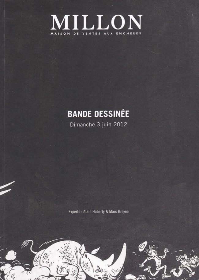 Couverture de (Catalogues) Ventes aux enchères - Millon - Millon - Bande dessinée - Dimanche 3 juin 2012 - Paris salle VV