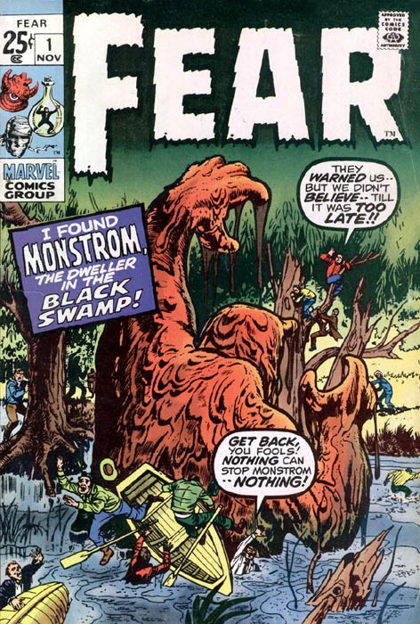Couverture de Adventure into Fear (Marvel comics - 1970) -1- I Found Monstrom, The Dweller in the Black Swamp!