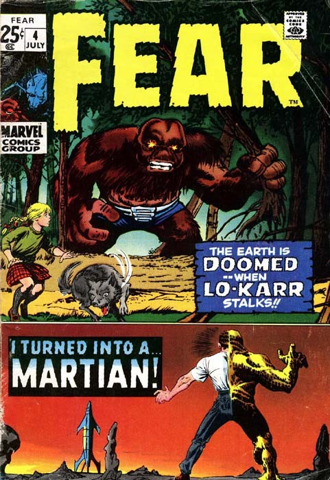 Couverture de Adventure into Fear (Marvel comics - 1970) -4- The earth is doomed ..when Lo-Karr stalks!!
