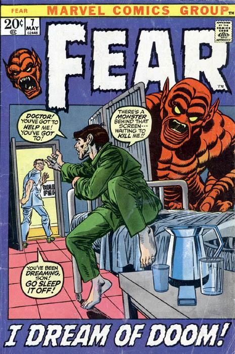Couverture de Adventure into Fear (Marvel comics - 1970) -7- I Dream of Doom!