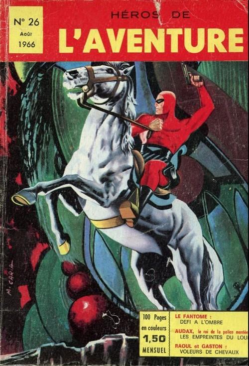 Couverture de Les héros de l'aventure (Classiques de l'aventure, Puis) -26- Le Fantôme : défi à l'ombre