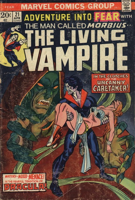 Couverture de Adventure into Fear (Marvel comics - 1970) -21- In the clutches of the uncanny Caretaker!