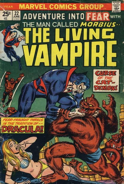 Couverture de Adventure into Fear (Marvel comics - 1970) -22- Curse of the Cat-Demon!