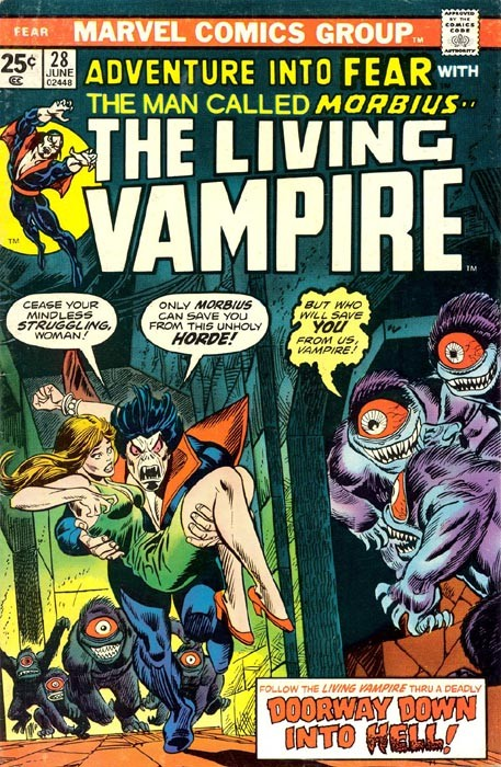 Couverture de Adventure into Fear (Marvel comics - 1970) -28- Doorway down Into Hell