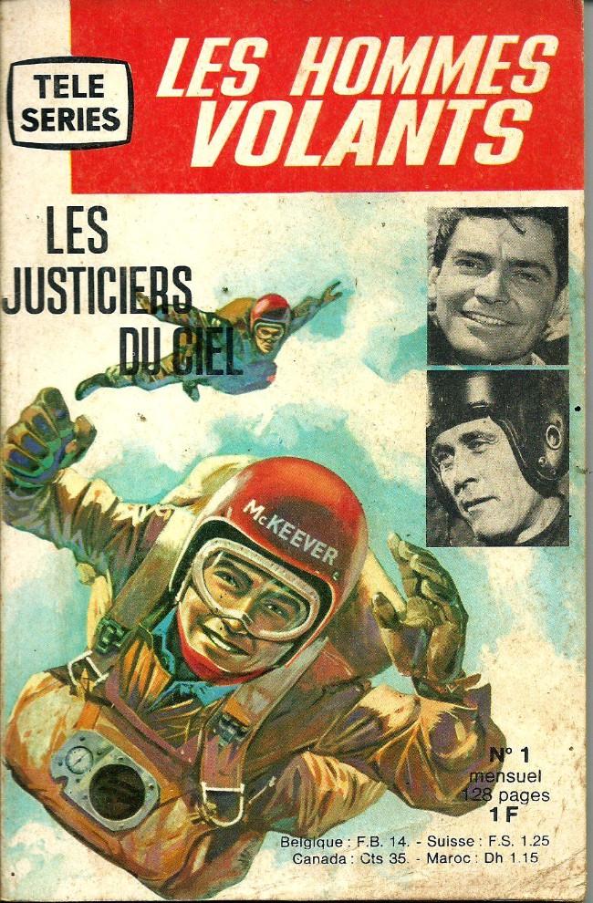 Couverture de Télé série bleue (Les hommes volants, Destination Danger, etc.) -1- Les hommes volants - Les justiciers du ciel