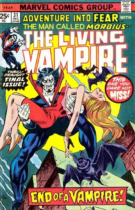 Couverture de Adventure into Fear (Marvel comics - 1970) -31- End of a Vampire!