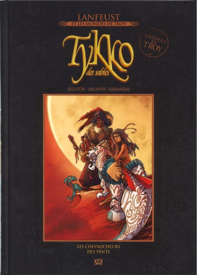 Couverture de Lanfeust et les mondes de Troy - La collection (Hachette) -37- Tykko des sables - Les chevaucheurs des vents