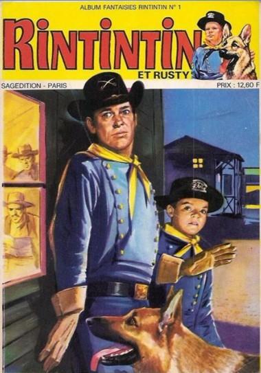 Couverture de Rin Tin Tin & Rusty (2e série) -Rec76- Album fantaisies Rintintin N°1 (du n°160 au n°162)