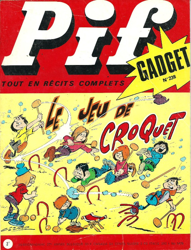Couverture de Pif (Gadget) -238- Etre ou ne pas être