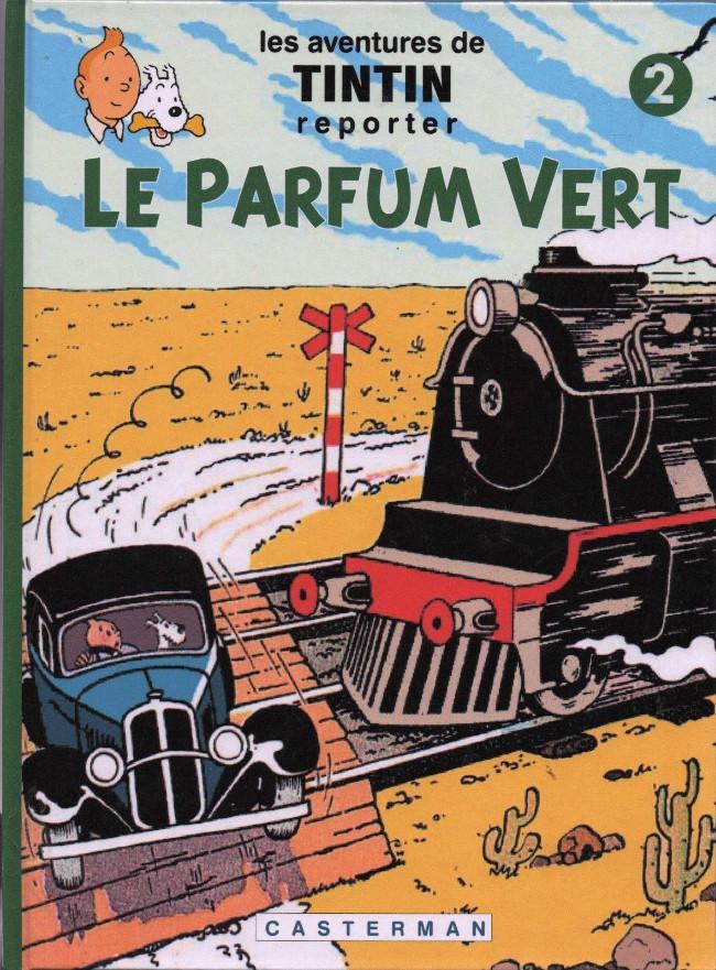 Couverture de Tintin - Pastiches, parodies & pirates -37- le parfum vert - tome 2