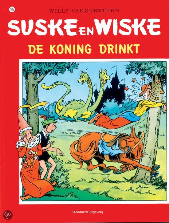 Couverture de Suske en Wiske -105- De koning drinkt