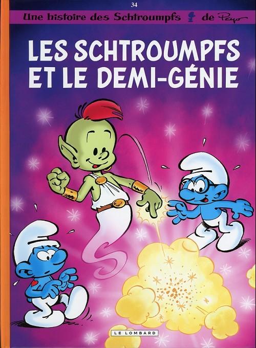 Couverture de Les schtroumpfs -34- Les schtroumpfs et le demi-génie