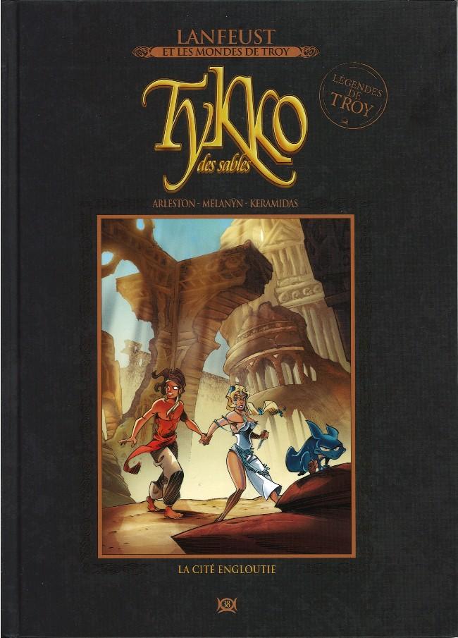 Couverture de Lanfeust et les mondes de Troy - La collection (Hachette) -38- Tykko des sables - La cité engloutie