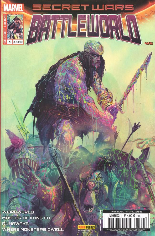 Couverture de Secret Wars : Battleworld -4- La reine des hommes-choses