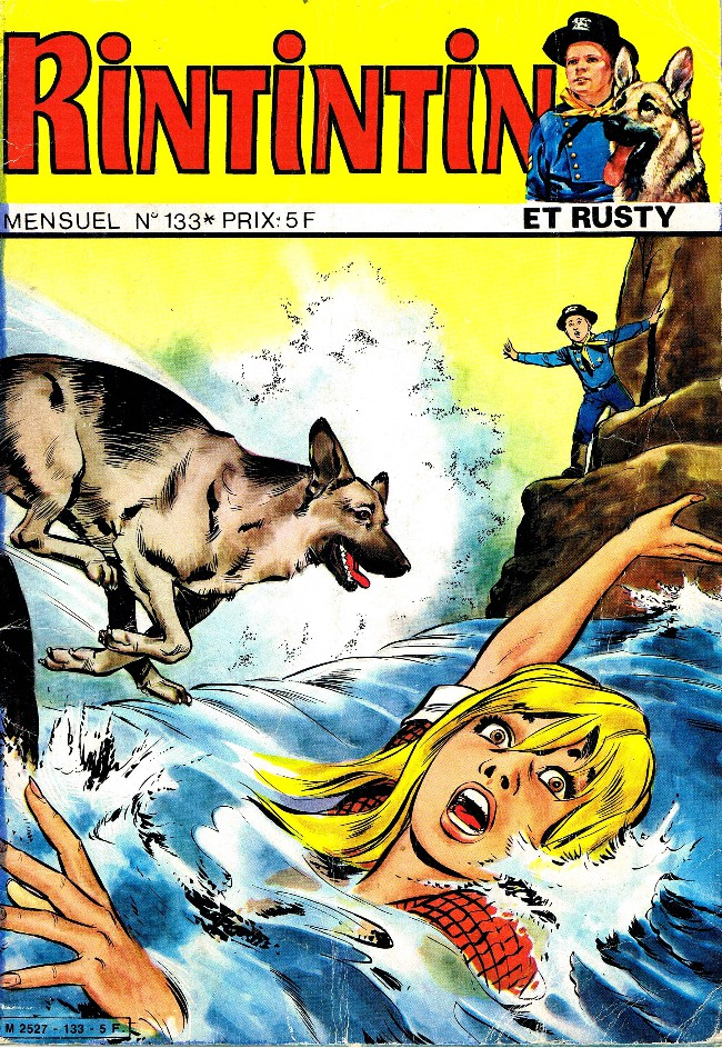 Couverture de Rin Tin Tin & Rusty (2e série) -133- La grande colère du sergent O'Hara