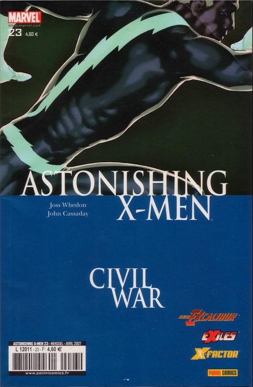 Couverture de Astonishing X-Men (kiosque) -23- Prise de tête