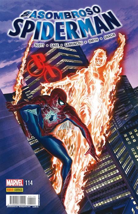 Couverture de Asombroso Spiderman -114- Fuego Amigo