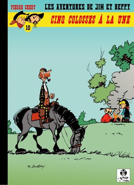 Couverture de Jim L'astucieux (Les aventures de) - Jim Aydumien -10- Cinq colosses à la une
