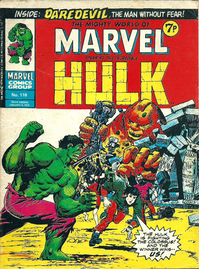 Couverture de Mighty world of Marvel (The) (Marvel UK - 1972) -118- Of gods and green giants