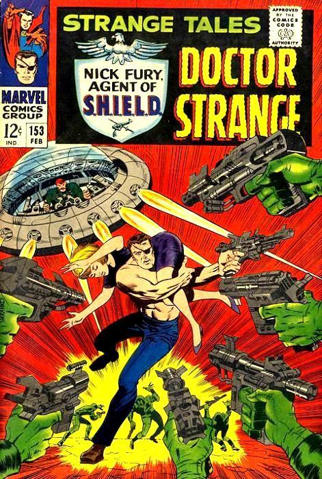Couverture de Strange Tales (Marvel - 1951) -153- Nick Fury agent of S.H.I.E.L.D/Dr Strange