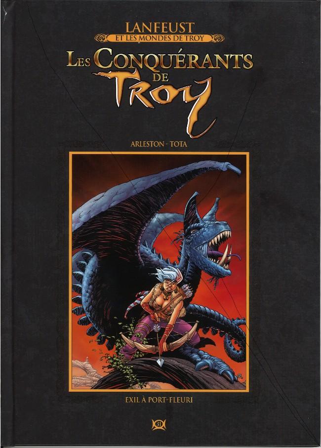 Couverture de Lanfeust et les mondes de Troy - La collection (Hachette) -31- Les Conquérants de Troy - Exil à Port-Fleuri