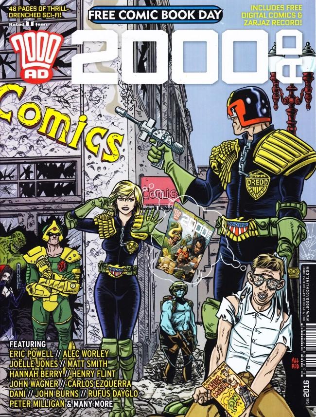 Couverture de 2000 AD (1977) -FCBD 2016- 2000 AD - Free Comic Book Day 2016