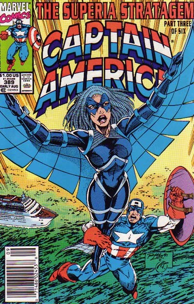 Couverture de Captain America (Marvel comics - 1968) -389- The Superia Stratagem, Part Three of Six