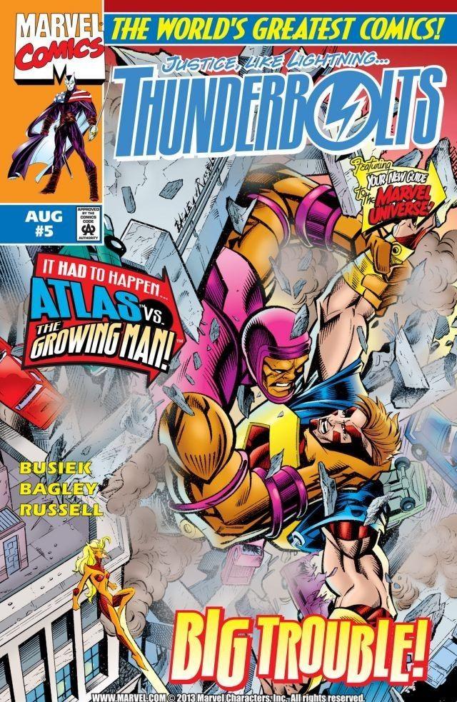 Couverture de Thunderbolts Vol.1 (Marvel Comics - 1997) -5- Growing Pains
