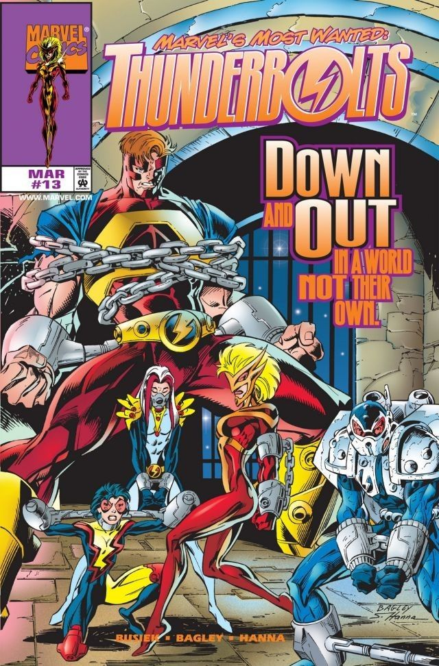 Couverture de Thunderbolts Vol.1 (Marvel Comics - 1997) -13- In the Courts of Kosmos!